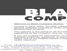 Tablet Preview of blackcompanystudios.co.uk